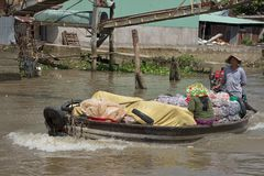 Vietnam, Mekong Delta Floating Market Stock Images