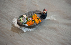 Vietnam, Mekong Delta floating market Royalty Free Stock Images