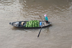 Vietnam, Mekong Delta floating market Royalty Free Stock Image