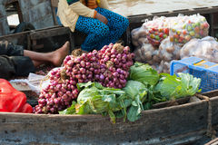 Vietnam, Mekong Delta floating market Royalty Free Stock Photos