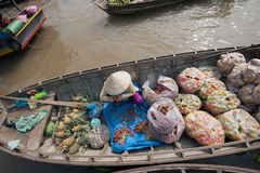 Vietnam, Mekong Delta floating market Stock Photography