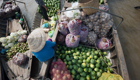 Vietnam, Mekong Delta floating market Royalty Free Stock Photo