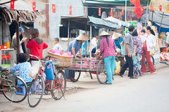 VIETNAM, MEKONG DELTA  JAN 28: The unidentified vietnamese peopl Royalty Free Stock Photos