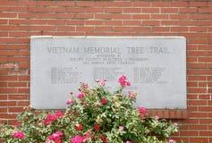 Vietnam Memorial Tree Trail, Millington, TN Stock Images