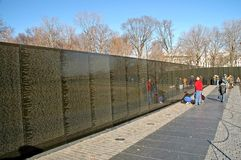 Vietnam Memorial Wall Washington. Vietnam Memorial Wall, Washington, DC Stock Image
