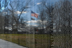 Vietnam Memorial in Washington DC Royalty Free Stock Images