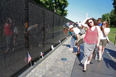 Vietnam Memorial in Washington DC Royalty Free Stock Photo