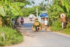 Vietnam, mensen bij Mekong Delta royalty-vrije stock fotografie