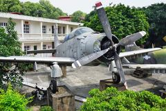 The Vietnam Military History Museum. HANOI, VIETNAM - The Vietnam Military History Museum celebrates Vietnamese victories over France and the United States. It royalty free stock photos