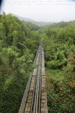 Vietnam mini rail road. Amusement Park on Mt. шт Vietnam mini rail road Stock Photography