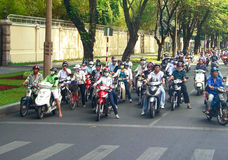 Vietnam with motorcycles Royalty Free Stock Photo