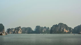 Vietnam. Mountain scenery at Halong Bay. stock video footage