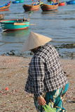 Vietnam Mui ne fishing village Stock Photos