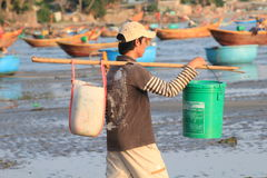 Vietnam Mui ne fishing village Stock Images