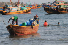 Vietnam Mui ne fishing village Royalty Free Stock Photos