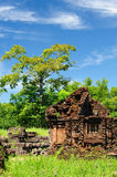 Vietnam - My Son. Ancient Hindu temples My Son near Hoi An. Vietnam stock images
