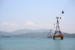 Vietnam Nha Trang cableway Royalty Free Stock Images