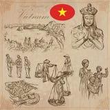 vietnam Photos de la vie Paquet de vecteur Dessins de main illustration libre de droits