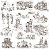 Vietnam. Pictures of Life. Freehands, hand drawn collection. Royalty Free Stock Images