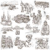 Vietnam. Pictures of Life. Freehands, hand drawn collection. Royalty Free Stock Image