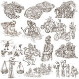 Vietnam. Pictures of Life. Freehands, hand drawn collection. Stock Images