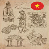 Vietnam. Pictures of Life. Vector pack. Hand drawings. Stock Photos