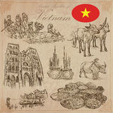Vietnam. Pictures of Life. Vector pack. Hand drawings. Stock Photography