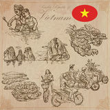 Vietnam. Pictures of Life. Vector pack. Hand drawings. Royalty Free Stock Images