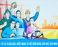 Vietnam-Plakat stockbilder