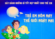 Vietnam-Plakat stockbild