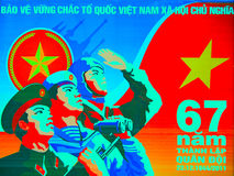 Vietnam-Plakat Stockfotos