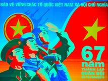 Vietnam-Plakat stockfotos
