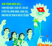 Vietnam poster royalty free stock photo