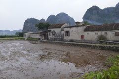 Vietnam poverty. Poor people live in stale houses in Vietnam royalty free stock images
