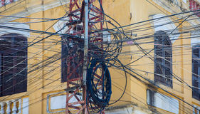 Vietnam power lines Royalty Free Stock Photography