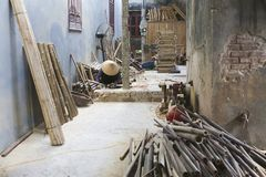 Vietnam, provincia de Bac Ninh, pueblo del bambú de Xuan Lai Foto de archivo libre de regalías