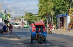 Vietnam, Provinz von Binh Thuan, Phan Thiet, die Straße von Mui Ne-Dorf, 01/29/2019 stockfotos