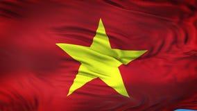 VIETNAM realistisk vinkande flaggabakgrund Arkivbild
