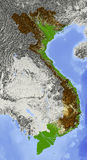Vietnam, relief map Royalty Free Stock Photography