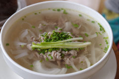 Vietnam rice noodle Pho Bo stock photography