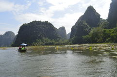 Vietnam river. Halong bay on the land royalty free stock photography