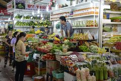 Vietnam Saigon food market Royalty Free Stock Image