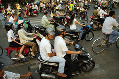 Vietnam Saigon Traffic hell Royalty Free Stock Images