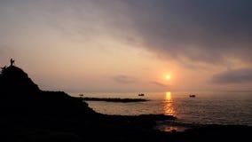 Vietnam seaside, sunrise, Da Dia rapids Stock Images