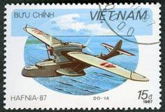 VIETNAM - 1987: shower amfibiska Dornier DO-18, serie Hafnia 87 Arkivfoto