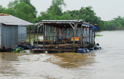 Vietnam siam river. Water house Royalty Free Stock Photography