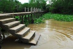 Vietnam siam river. Rach xep stairs Stock Photo