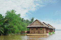 Vietnam siam river. Float house Stock Images