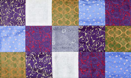 Vietnam silk patchwork Royalty Free Stock Images