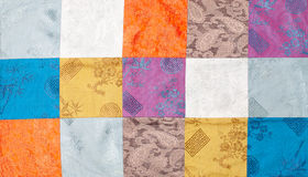 Vietnam silk patchwork Stock Photos